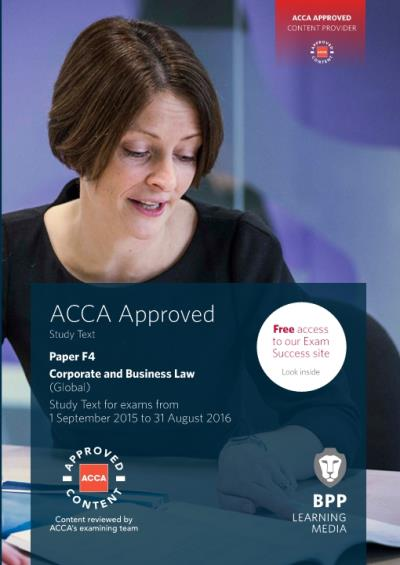 ACCA F4 Corporate and Business Law (Global) - Study Text