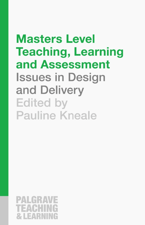 Masters Level Teaching, Learning and Assessment